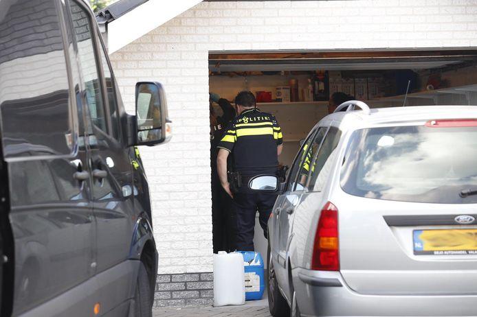 Het drugslab werd in oktober aangetroffen aan de Aerdmennekesbaan in Veldhoven.