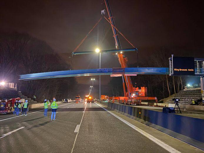 Een beeld van de werf begin dit jaar. Sinds dit weekend is de brug opengesteld voor het verkeer.