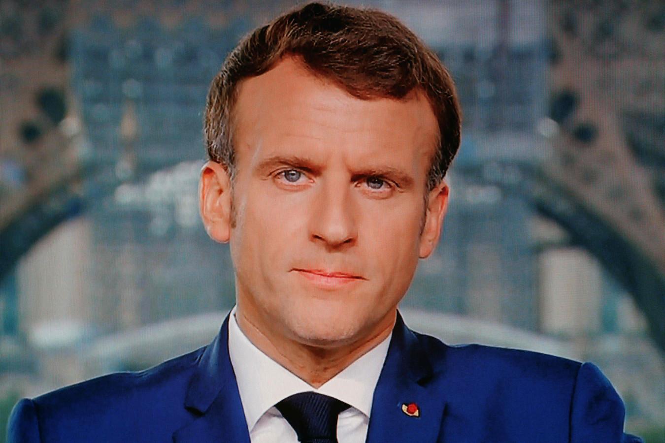 De Franse president Emmanuel Macron