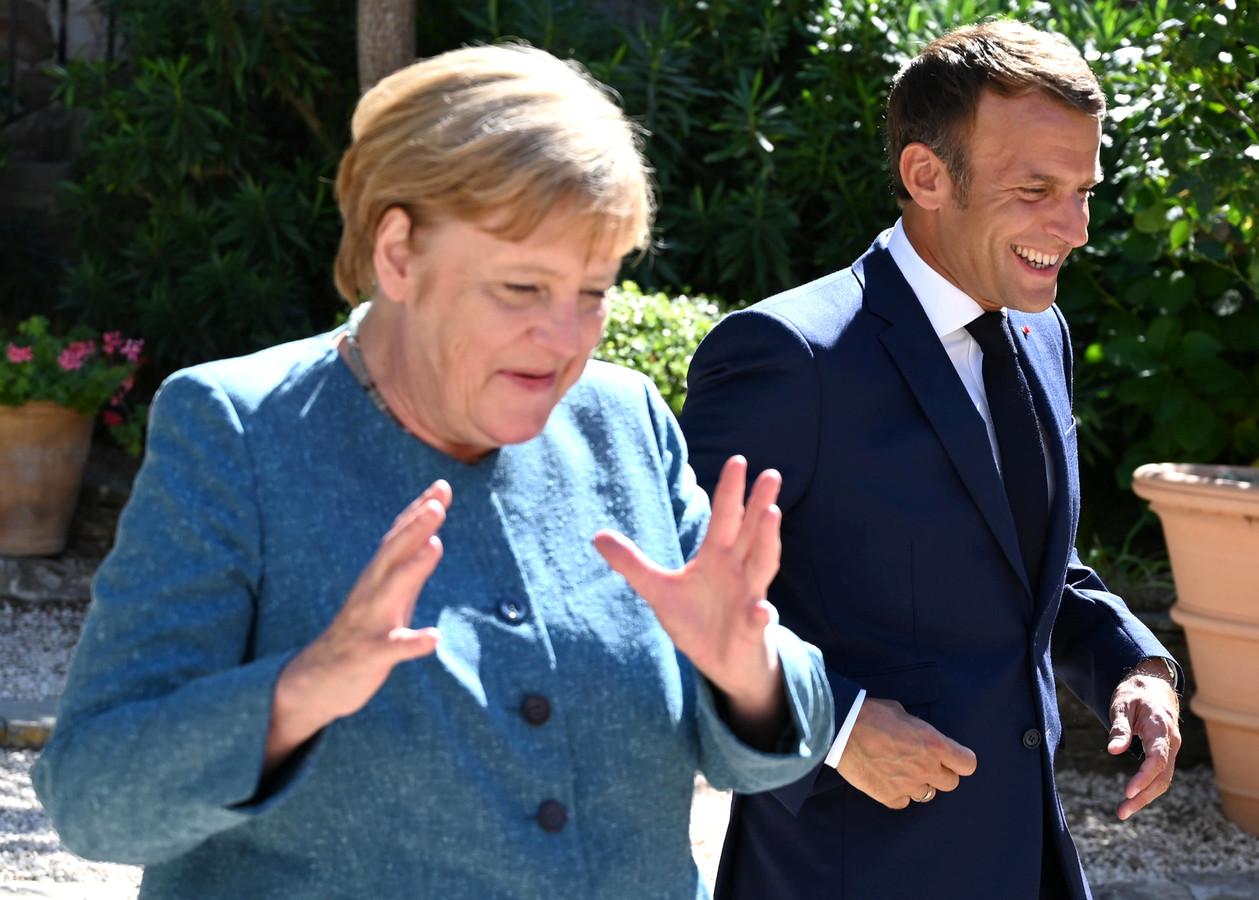 Emmanuel Macron et Angela Merkel au Fort de Brégançon en août dernier.