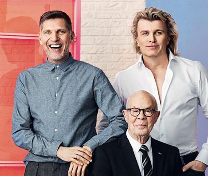 Erwin Olaf (links), Hans Klok (rechts) en Hans van Manen.