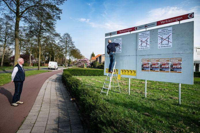 Eerder werd al actie gevoerd tegen de komst van windmolens langs de A73 bij Ewijk.