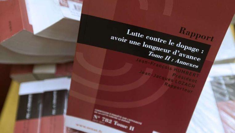 He onderzoeksrapport van de Franse senaat, woensdag gepresenteerd in Parijs. Beeld afp