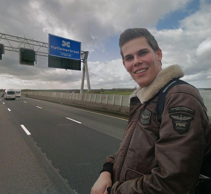 Wiljan zoekt naar de vrouw die naar hem zwaaide op de A28 bij Zwolle.