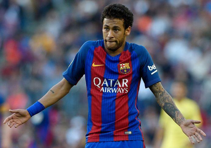 Neymar in het shirt van FC Barcelona.