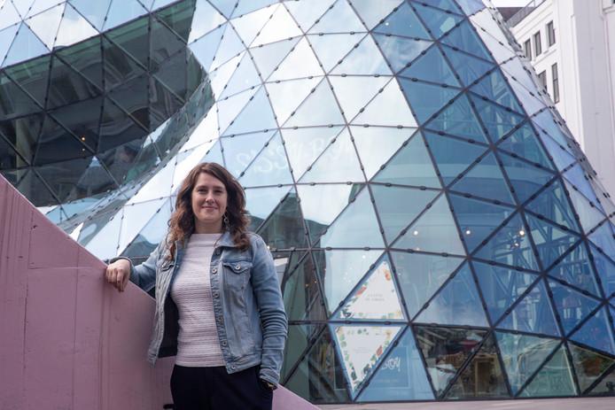 Tweede kamerlid Jessica van Eijs op 18 septemberplein in Eindhoven