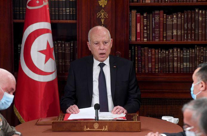 President Kais Saied.
