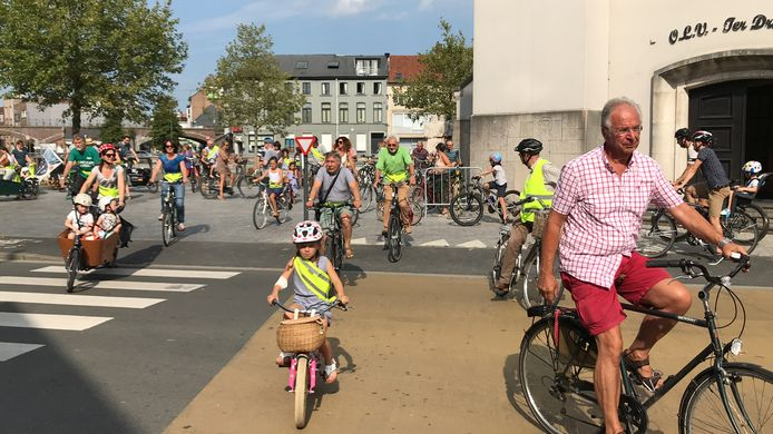 Kidical Mass in Aalst.