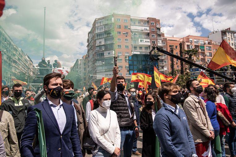 'Wij zijn niet bang voor stenen. Alleen voor socialisme en communisme.' Beeld Cesar Dezfuli