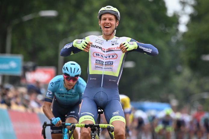 Taco van der Hoorn won deze week een etappe in de Benelux Tour.