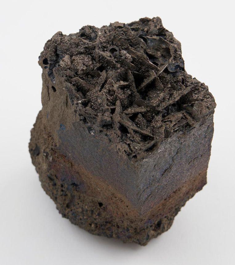 Kristallen van nikkelarsenide gevonden Espedal, Noorwegen. Beeld Science Museum London