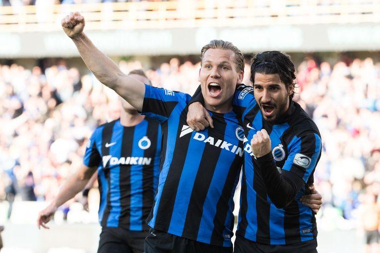 Ruud Vormer was trefzeker voor Club Brugge. Beeld belga