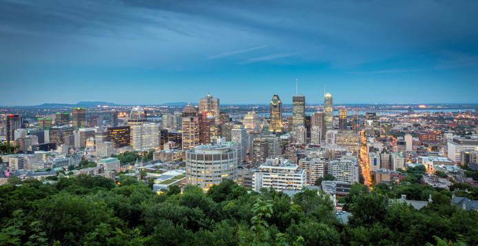 Vue aérienne sur Montréal, où près de 36% des échantillons testés ont révélé des quantités de plomb plus élevées que les recommandations du ministère de la santé.