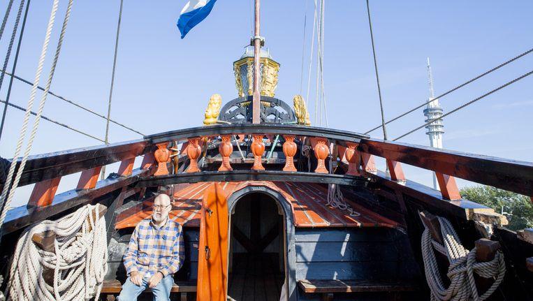 Scheepsbouwmeester Willem Vos op de Batavia. Beeld Marie Wanders