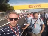 Op de truck over Circuit Paul Ricard