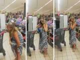 Menacée de devoir quitter un magasin, une cliente utilise sa culotte pour en faire un masque