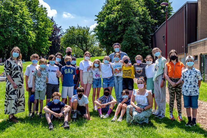Leerlingen uit 6de leerjaar van de Vrije Basisschool Landen.