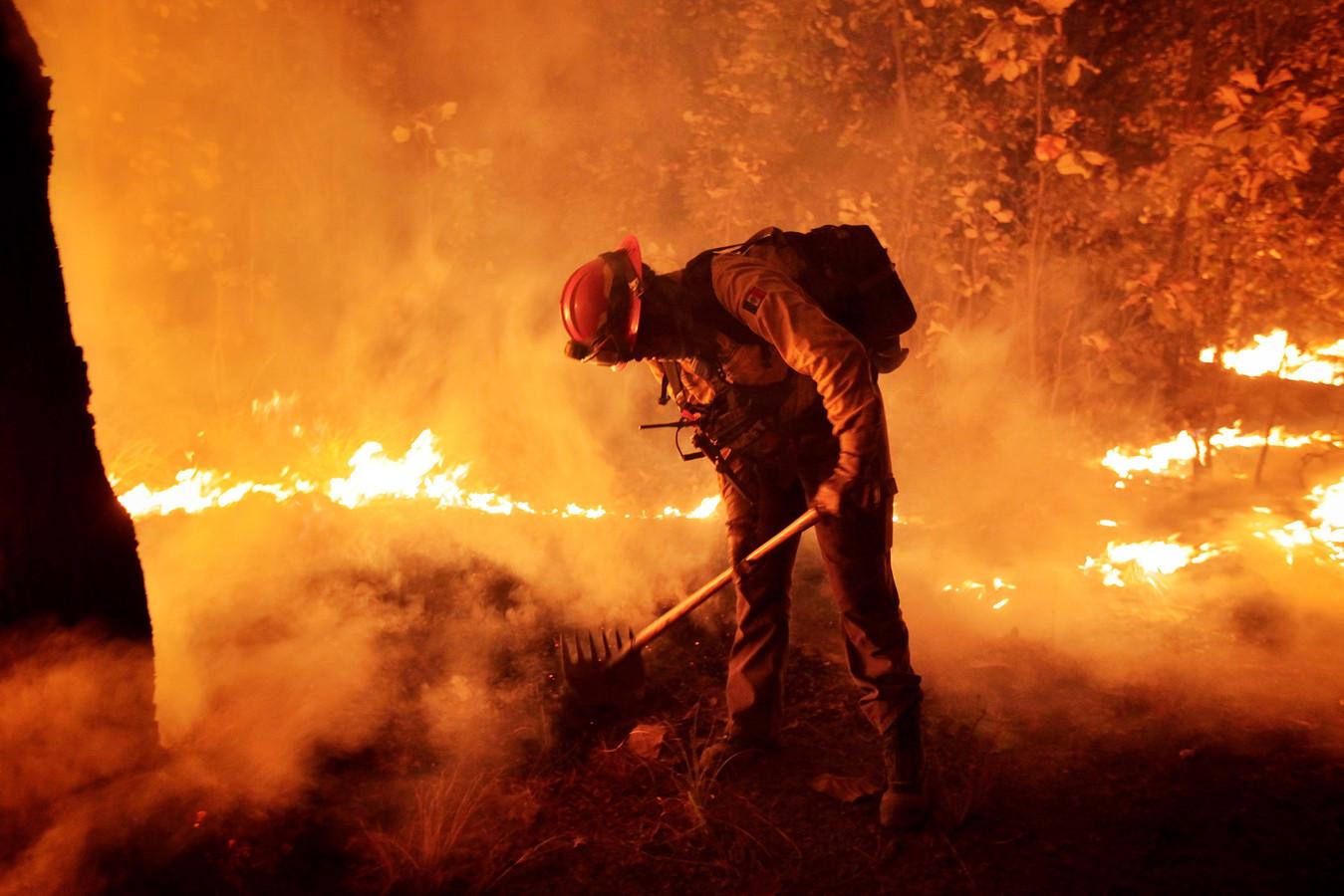 Een brandweerman aan het werk in de staat Jalisco.