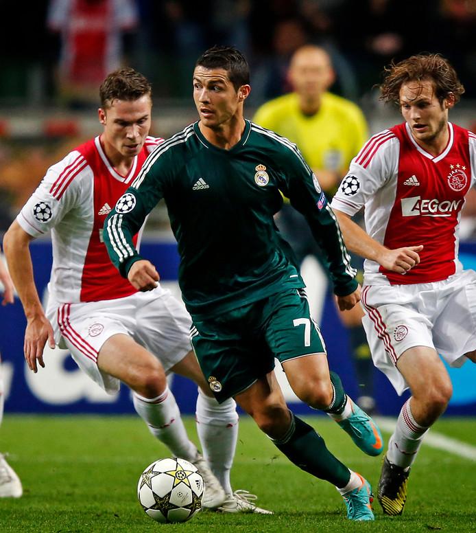 Derk Boerrigter en Daley Blind in de achtervolging op Cristiano Ronaldo