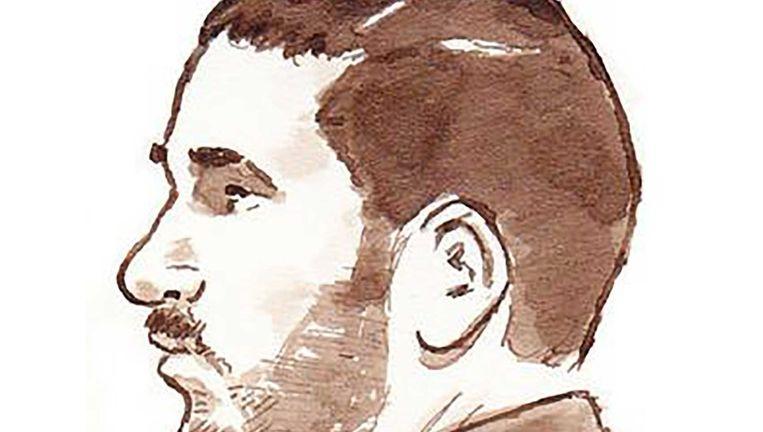 Rechtbanktekening Ali Benhadi Beeld anp