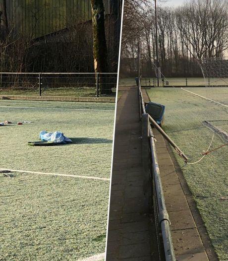 Vernielingen en troep achtergelaten bij voetbalvereniging Drechtstreek