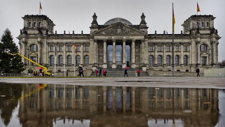 De Bundestag of Bondsdag in Berlijn Beeld anp