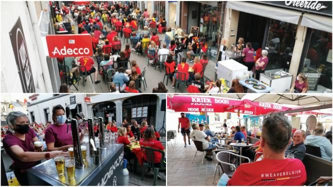 IN BEELD. Supporteren voor de Rode Duivels in Halle? Dat ziet er in coronatijden dus zo uit…
