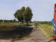 Brandweer is druk met bermbrandjes rond Sint Anthonis