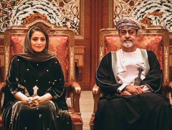 De Sultan en de 'First Lady' van Oman.