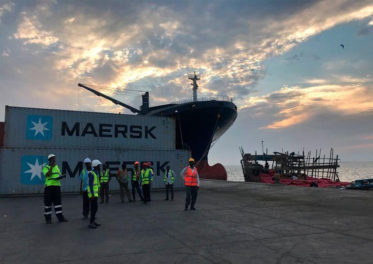 De haven van Berbera in Somaliland wordt gerenoveerd door een bedrijf uit de Verenigde Arabische Emiraten. Beeld AP