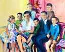 Familieportret: schilderij van Victor van de Lande