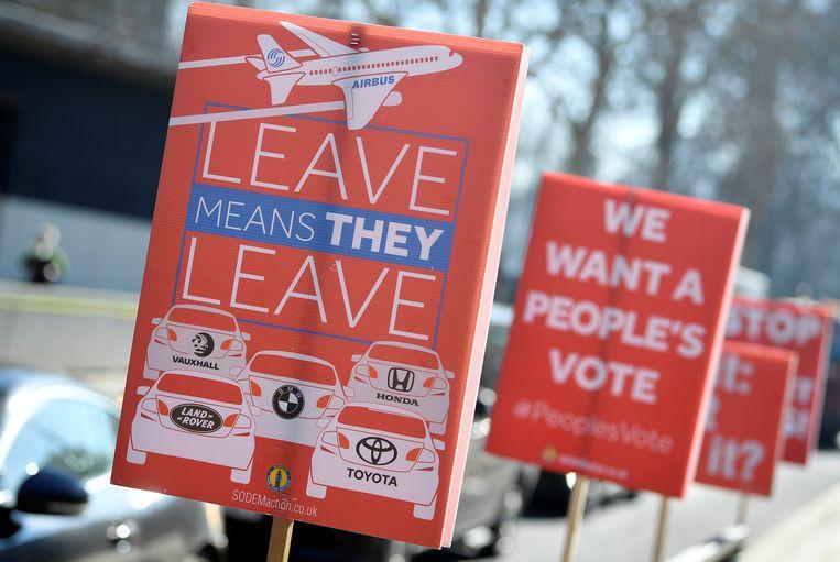 Tegenstanders van de brexit vrezen voor de economie en vragen een nieuw referendum.