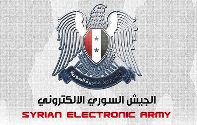 Het logo van het Syrian Electronic Army (SEA) Beeld SEA