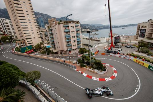 Lewis Hamilton vandaag bij de eerste vrije training.