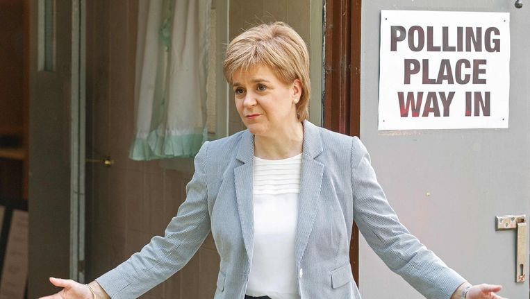 Nicola Sturgeon bracht gisteren in Glasgow haar stem uit.