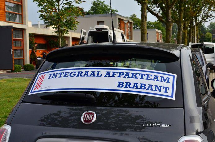 Een van de Fiatjes 500 die politie en justitie in 2012 in beslag namen bij de Tilburgse 'wietfamilie' K.