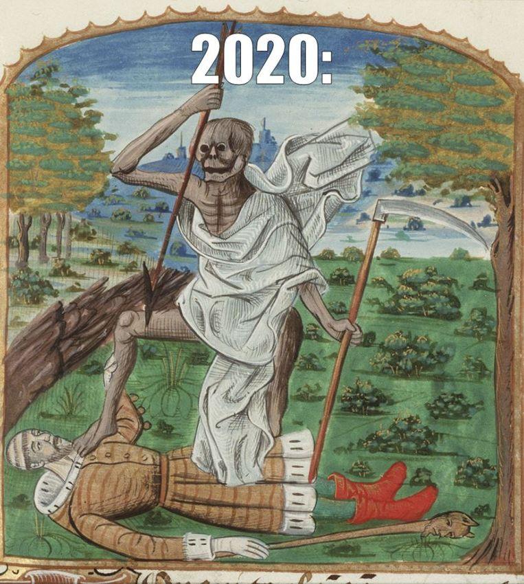 Een 'middeleeuwse' meme. Beeld KB