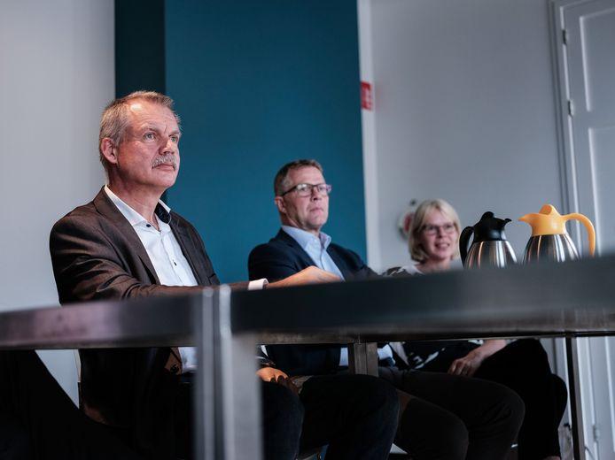 Peter van de Wardt, toen nog wethouder, bij een persconferentie over Laborijn in 2019.
