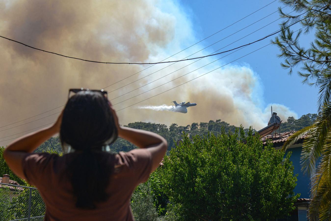 Natuurbranden in Turkije.