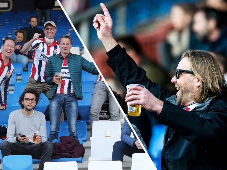 Willem II-fans terug in het stadion: 'Lekker voetbal kijken en Schrobbelèr drinken'