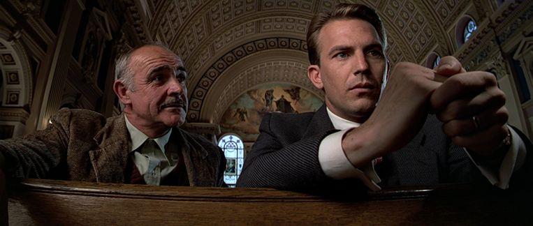 Sean Connery (links) en Kevin Costner in The Untouchables van Brian De Palma. Beeld