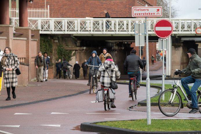 De huidige situatie bij de Brinkgreverweg.