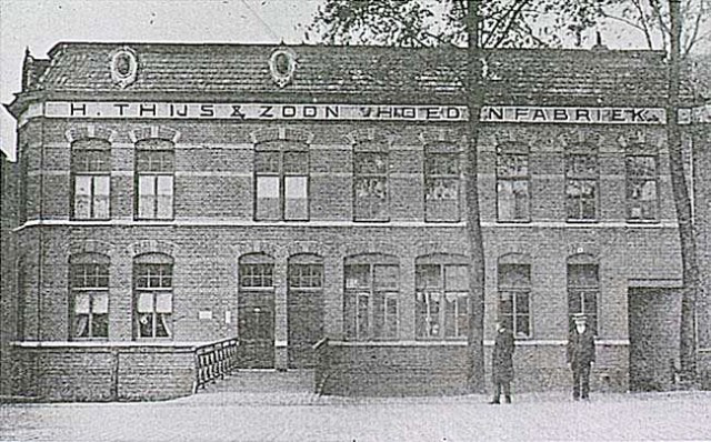 Hoedenfabriek Thijs aan de Emmasingel in Eindhoven.