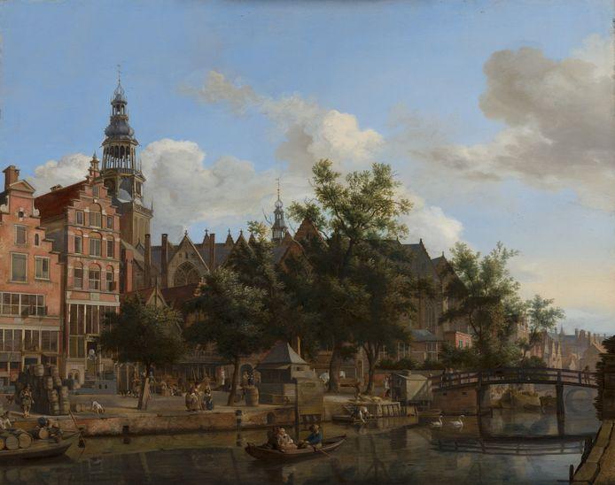Jan van der Heyden, Gezicht op de Oudezijds Voorburgwal.