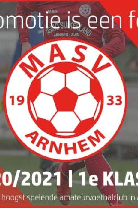 Volksfeest in Arnhem: MASV promoveert alsnog naar  eerste klasse