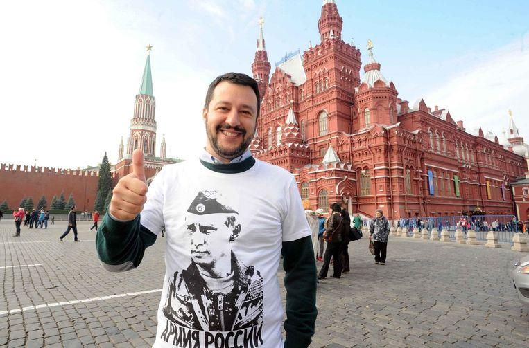 De Italiaanse vicepremier Matteo Salvini in Moskou.