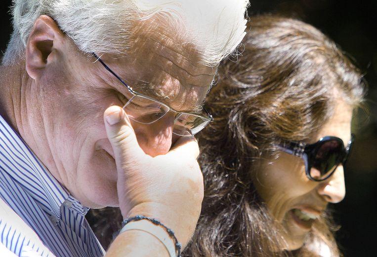 De ouders van James Foley geven een verklaring aan journalisten. Beeld AP