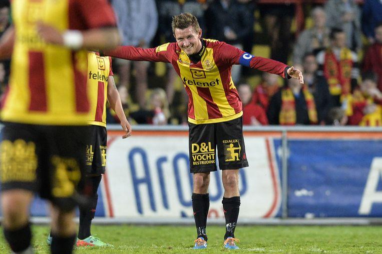 3. Mads Junker, de 2-0 in KV Mechelen - Cercle Brugge.