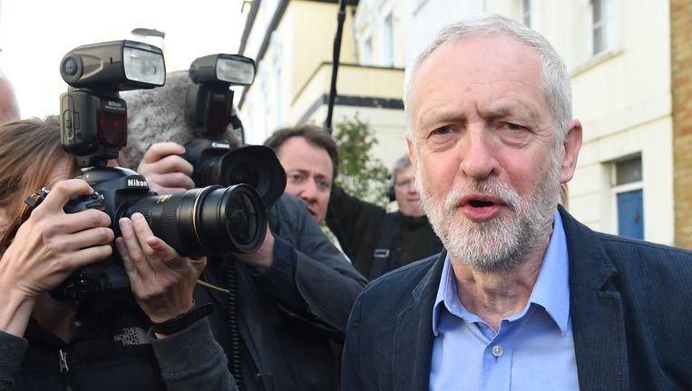 Jeremy Corbyn, leider van de Britse Labour Partij. Beeld epa