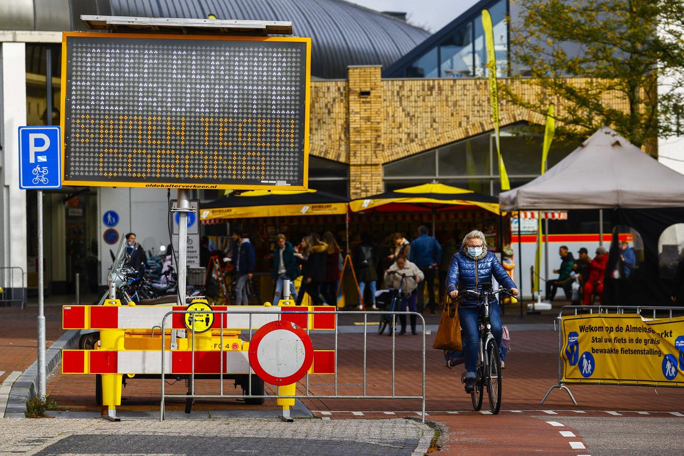 Beeld uit de binnenstad van Almelo.
